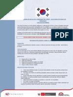 2015oct09_ProgramaBecasPregradoCorea_CONVOCATORIA