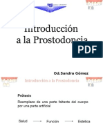 Introduccion a La Prostodoncia