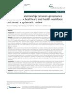 10 21 27 Exploring the Relationship Between Governance Mechanism in Healthcare and Health Workforce