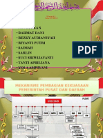 Mekanisme Pembagian Kekuasaan Pemerintah Pusat Dan Daerah