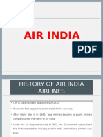 Presentation on Air India History