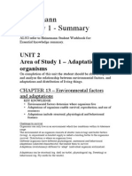Biology Unit 2 Summary