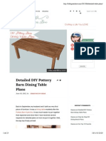 DIY Pottery Barn Dining Table Plans