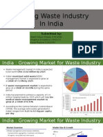 Growing Waste Industry in India
