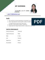 Angie Melany Quezada Mori Curriculum Vitae