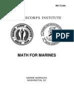 1334H Math for Marines (MCI)