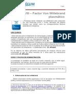 Factor VIII Factor VW