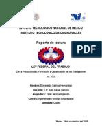 Ensayo Ley Federal Del Trabajo