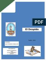 Monografia El Despido