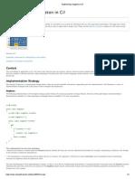 Implementing Singleton in C#