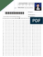 NTS Answer Sheet