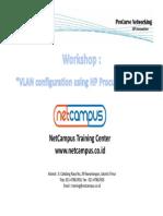 Workshop Vlan Procurve
