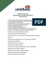Derecho Romano Cuestionario Unico