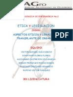 Aspectos Eticos y Legales Del Transplante de Organos
