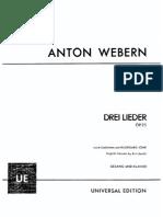 Op. 25 - Drei Lieder Nach Gedichten Von Hildegard Jone