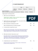 Adult Questionnaire Key
