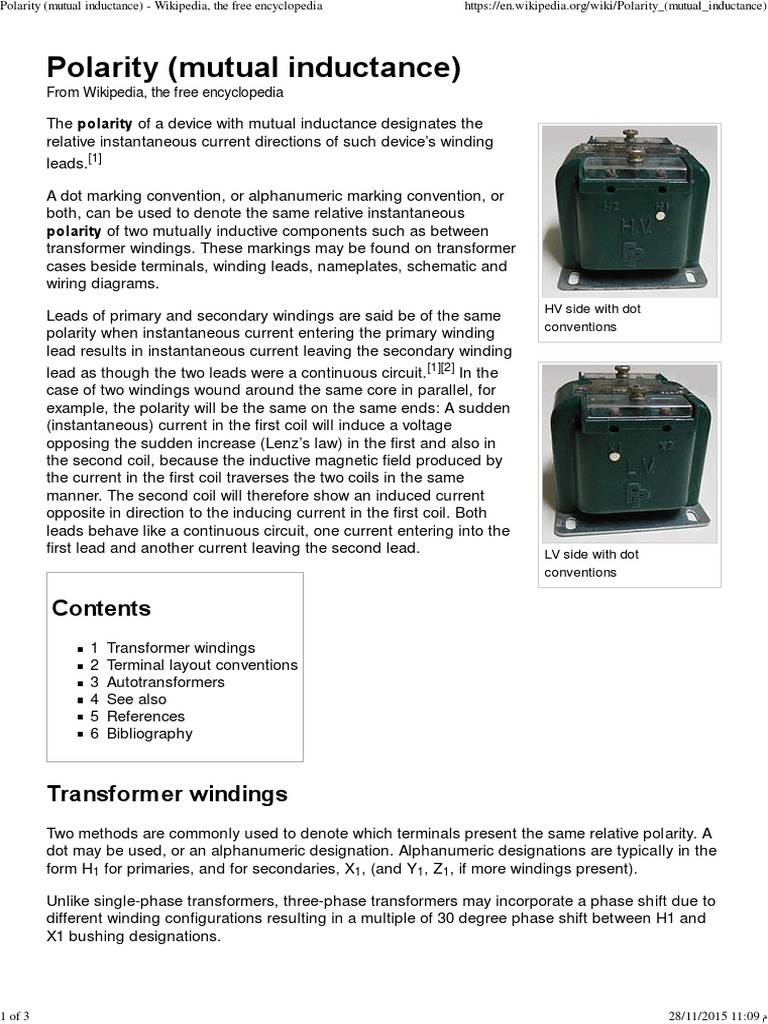 Polarity Mutual Inductance Magnetic Devices Inductor Autotransformer Wiring Diagram Get Free Image About