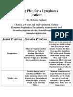 week 5 nursing plan - lymphoma patient