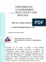 ENVIRONMENTAL IMPACT ASSESSMENT (MSM3208) LECTURE NOTES 7-Principles, Policy and Practice