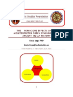 The Pernicious Effects of the Misinterpreted Greek Synchronism in Ancient Indian History