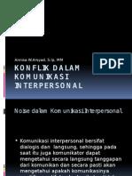 Konflik Dalam Komunikasi Interpersonal