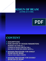 Design of Beam Aci 11-01-05