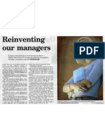 Reinventing Our Managers