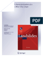 Geotechnical Caracterization of a Landslide in a Blu Clay Slope