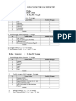 2. Pekan Efektif, Program Tahunan 2015-2016