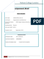 OB Assignment Brief - SEP 2015