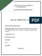 Fişa de Observaţie Clinică Ftiziopneumologie