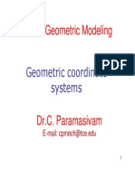 1 Geometric Coordinate Systems