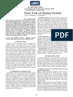 Analysis of Water Tank on Sloping Ground