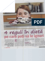 4 Reguli in Dieta Pe Care Poti Sa Le Ignori