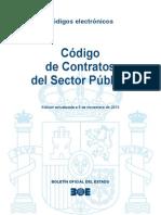 Codigo de Contratos Del Sector Publico español actualizado