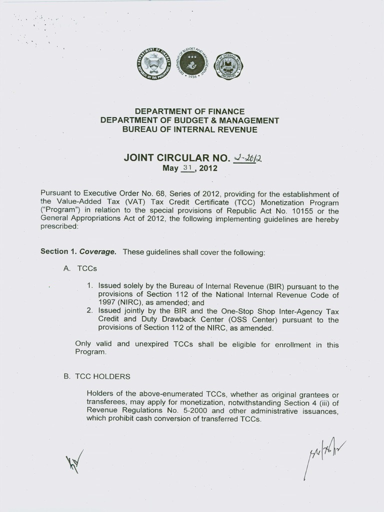 Joint Circular Dof Dbm Bir For Tcc