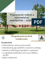 programozás nyelvek közoktatásban