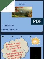 4 Beauty 6th English