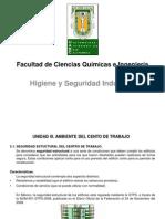 Higiene y Seguridad Industrial. Unidad III. (2015-2)