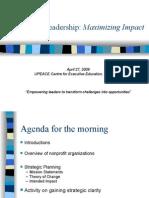 Strategic Issues in Nonprofit Management3141