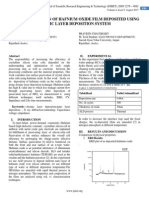 CHARACTERIZATION OF HAFNIUM OXIDE FILM DEPOSITED USING ATOMIC LAYER DEPOSITION SYSTEM
