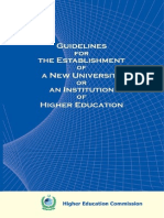 Criteria Guidelines of University Institutions Campuses