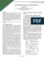 Design and Analysis of 16-Bit Micro Processor Using Xilinx Tool