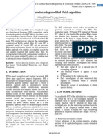 PSD Computation using modified Welch algorithm