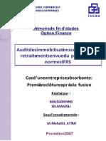 Audit des immobilisations corporelles et retraitements en vue du passage aux normes IFRS Cas d'une .PDF