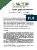 Produção de dissertações na área de políticas públicas nos programas de pós-graduação em turismo