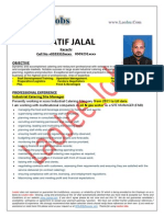 ATIF JALAL - Restaurant-Site Catering Manager