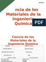 Ciencia de Los Materiales de La Ingeniería Química