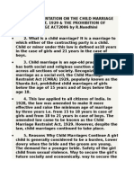Child Marrige Restrain Act 2006