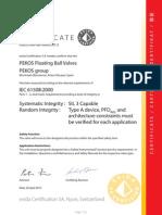 Sil Certificate (Iec61508) Pekos